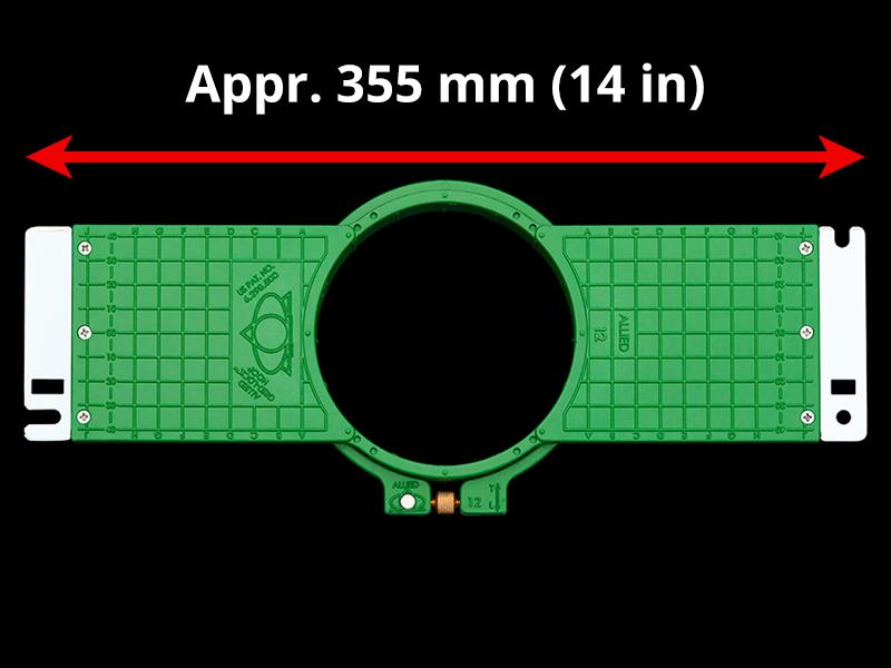360 mm (Appr. 14.2 inch) Arm Spacing