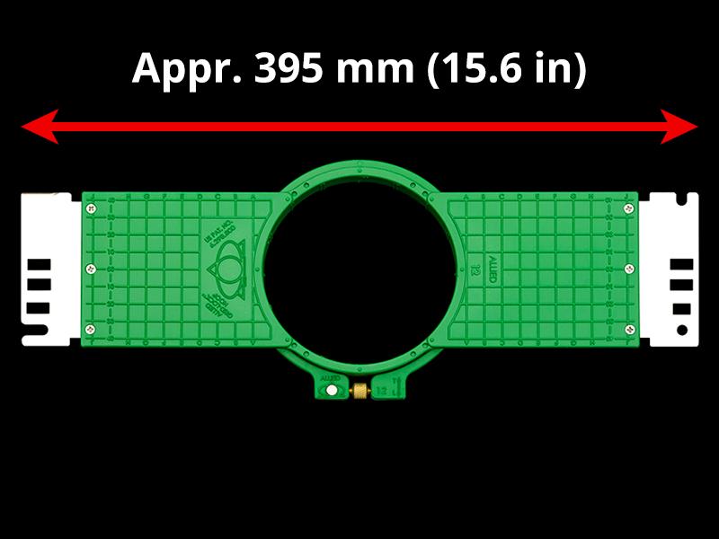 400 mm (Appr. 15.7 inch) Arm Spacing