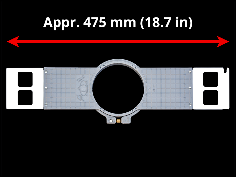 480 mm (Appr. 18.9 inch) Arm Spacing