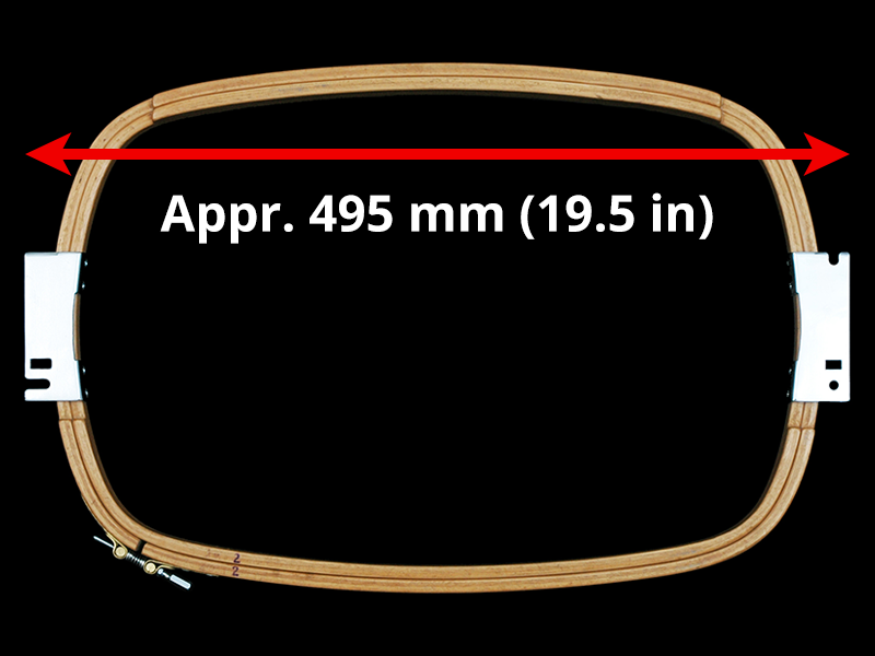 500 mm (Appr. 19.7 inch) Arm Spacing