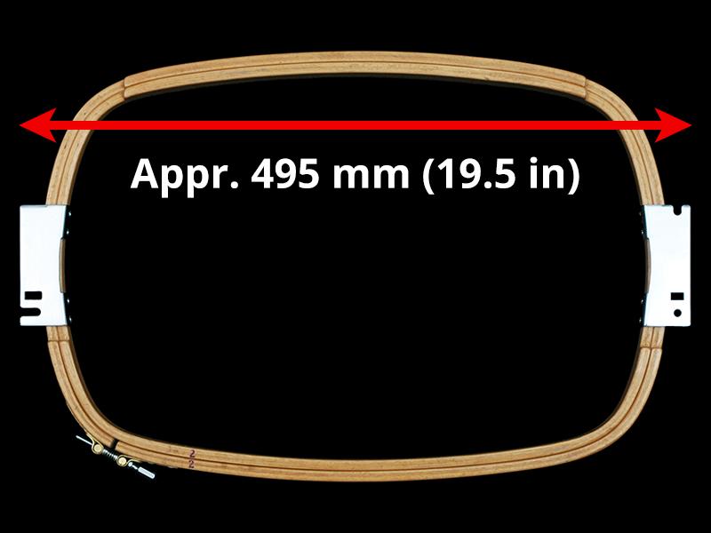 500 mm (Appr. 19.7 inch) Arm Spacing