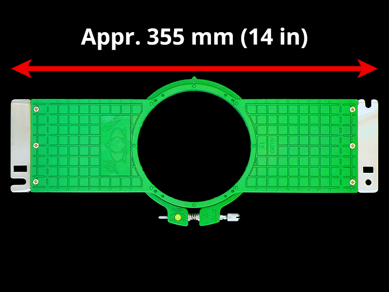 360 mm (Appr. 14.2 inch) Arm Spacing