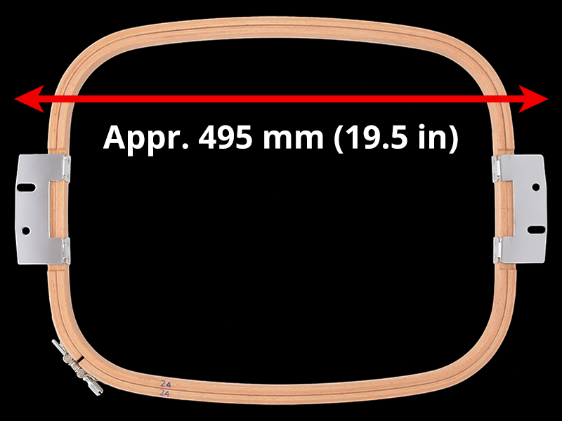 495 mm (Appr. 19.5 inch) Arm Spacing