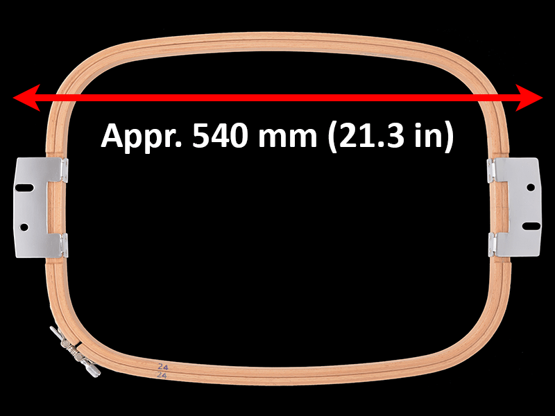540 mm (Appr. 21.3 inch) Arm Spacing
