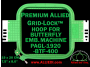 19 x 20 cm (7.5 x 8 inch) Rectangular Premium Allied Grid-Lock Plastic Embroidery Hoop - Butterfly 400