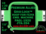 19 x 20 cm (7.5 x 8 inch) Rectangular Premium Allied Grid-Lock Plastic Embroidery Hoop - Feiya 394