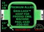 19 x 20 cm (7.5 x 8 inch) Rectangular Premium Allied Grid-Lock Plastic Embroidery Hoop - Prodigi 400