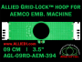 9 cm (3.5 inch) Round Allied Grid-Lock Plastic Embroidery Hoop - Aemco 394