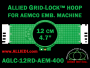 12 cm (4.7 inch) Round Allied Grid-Lock (New Design) Plastic Embroidery Hoop - Aemco 400