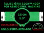 15 cm (5.9 inch) Round Allied Grid-Lock (New Design) Plastic Embroidery Hoop - Aemco 400