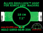18 cm (7.1 inch) Round Allied Grid-Lock (New Design) Plastic Embroidery Hoop - Aemco 394