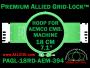 18 cm (7.1 inch) Round Premium Allied Grid-Lock Plastic Embroidery Hoop - Aemco 394