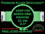 21 cm (8.3 inch) Round Premium Allied Grid-Lock Plastic Embroidery Hoop - Aemco 400