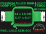14 x 15 cm (5.5 x 6 inch) Rectangular Premium Allied Grid-Lock Plastic Embroidery Hoop - Aemco 400