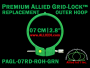 7 cm (2.8 inch) Round Premium Version Allied Grid-Lock Replacement Outer Embroidery Hoop / Ring / Frame - Green