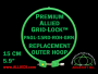 15 cm (5.9 inch) Round Premium Version Allied Grid-Lock Replacement Outer Embroidery Hoop / Ring / Frame - Green