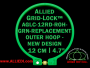 12 cm (4.7 inch) Round Standard Version Allied Grid-Lock (New Design) Replacement Outer Embroidery Hoop / Ring / Frame - Green