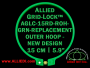 15 cm (5.9 inch) Round Standard Version Allied Grid-Lock (New Design) Replacement Outer Embroidery Hoop / Ring / Frame - Green