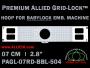 Baby Lock 7 cm (2.8 inch) Round Premium Allied Grid-Lock Embroidery Hoop for 504 mm Sew Field / Arm Spacing