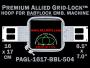 Baby Lock 16 x 17 cm (6.5 x 7 inch) Rectangular Premium Allied Grid-Lock Embroidery Hoop for 504 mm Sew Field / Arm Spacing