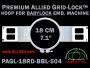 Baby Lock 18 cm (7.1 inch) Round Premium Allied Grid-Lock Embroidery Hoop for 504 mm Sew Field / Arm Spacing