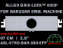 7 cm (2.8 inch) Round Allied Grid-Lock Plastic Embroidery Hoop - Barudan 380 EFP