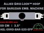 9 cm (3.5 inch) Round Allied Grid-Lock Plastic Embroidery Hoop - Barudan 520 EFP