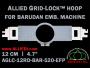 12 cm (4.7 inch) Round Allied Grid-Lock (New Design) Plastic Embroidery Hoop - Barudan 520 EFP