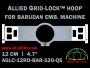 12 cm (4.7 inch) Round Allied Grid-Lock (New Design) Plastic Embroidery Hoop - Barudan 520 QS