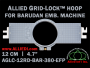 12 cm (4.7 inch) Round Allied Grid-Lock (New Design) Plastic Embroidery Hoop - Barudan 380 EFP