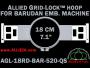 18 cm (7.1 inch) Round Allied Grid-Lock Plastic Embroidery Hoop - Barudan 520 QS