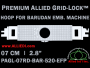 7 cm (2.8 inch) Round Premium Allied Grid-Lock Plastic Embroidery Hoop - Barudan 520 EFP