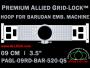 9 cm (3.5 inch) Round Premium Allied Grid-Lock Plastic Embroidery Hoop - Barudan 520 QS
