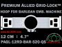 12 cm (4.7 inch) Round Premium Allied Grid-Lock Plastic Embroidery Hoop - Barudan 520 QS