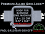 14 x 15 cm (5.5 x 6 inch) Rectangular Premium Allied Grid-Lock Plastic Embroidery Hoop - Barudan 380 EFP