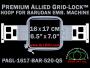 16 x 17 cm (6.5 x 7 inch) Rectangular Premium Allied Grid-Lock Plastic Embroidery Hoop - Barudan 520 QS