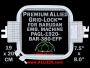 19 x 20 cm (7.5 x 8 inch) Rectangular Premium Allied Grid-Lock Plastic Embroidery Hoop - Barudan 380 EFP