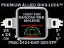 24 x 24 cm (9 x 9 inch) Square Premium Allied Grid-Lock Plastic Embroidery Hoop - Barudan 520 EFP