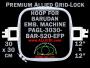 30 x 30 cm (12 x 12 inch) Square Premium Allied Grid-Lock Plastic Embroidery Hoop - Barudan 520 EFP