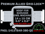 14 x 15 cm (5.5 x 6 inch) Rectangular Premium Allied Grid-Lock Plastic Embroidery Hoop - Barudan 380 QS