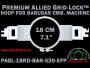 18 cm (7.1 inch) Round Premium Allied Grid-Lock Plastic Embroidery Hoop - Barudan 520 EFP