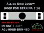9 cm (3.5 inch) Round Allied Grid-Lock Plastic Embroidery Hoop - Bernina 480