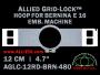 12 cm (4.7 inch) Round Allied Grid-Lock (New Design) Plastic Embroidery Hoop - Bernina 480
