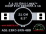 21 cm (8.3 inch) Round Allied Grid-Lock Plastic Embroidery Hoop - Bernina 480