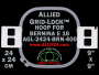 24 x 24 cm (9 x 9 inch) Square Allied Grid-Lock Plastic Embroidery Hoop - Bernina 400