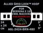 24 x 24 cm (9 x 9 inch) Square Allied Grid-Lock Plastic Embroidery Hoop - Bernina 480