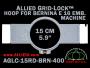 15 cm (5.9 inch) Round Allied Grid-Lock (New Design) Plastic Embroidery Hoop - Bernina 400