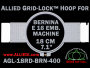 18 cm (7.1 inch) Round Allied Grid-Lock Plastic Embroidery Hoop - Bernina 400