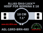 18 cm (7.1 inch) Round Allied Grid-Lock Plastic Embroidery Hoop - Bernina 480