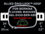 24 x 30 cm (9 x 12 inch) Rectangular Allied Grid-Lock Plastic Embroidery Hoop - Bernina 480